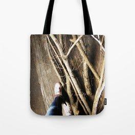 Walking the Line Tote Bag