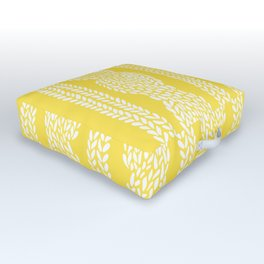 Cable Row Yellow Outdoor Floor Cushion