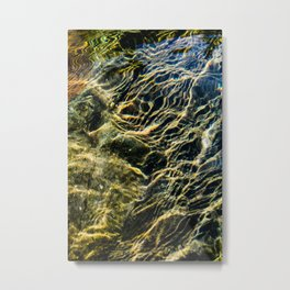 Ripples on River Rocks Metal Print