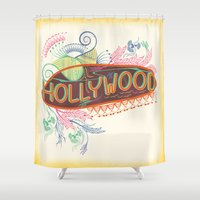 decorative Shower Curtains featuring Decorative Typographic by famenxt