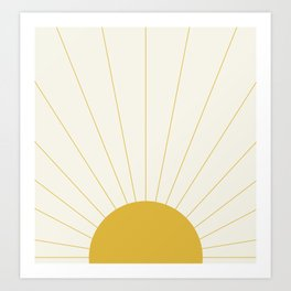 Sunrise / Sunset Minimalism Art Print
