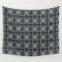 spanish Wall Tapestries featuring Luxury Spanish Tile - Pattern by Joel M Young