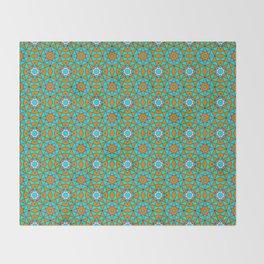 Moroccan Tile 1A - Blue Throw Blanket