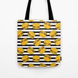Burger Stripes By Everett Co Tote Bag