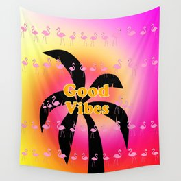 Good Vibes Palm Tree Wall Tapestry