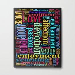 Words of Love #2 Metal Print