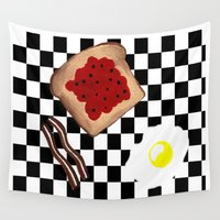 breakfast Wall Tapestries featuring Breakfast by Sartoris ART