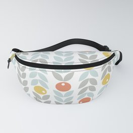Mid Century Modern Retro Leaf and Circle Pattern Fanny Pack
