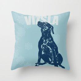 Vizsla Dog Art Throw Pillow