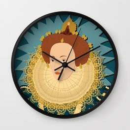 Queen Elizabeth I   Bad Ass Women Series Wall Clock