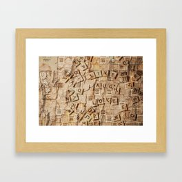 Fun with Letters. Framed Art Print
