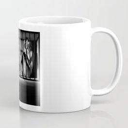 Nude Woman locked in a steel cage Coffee Mug