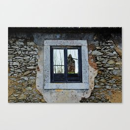 Window of an abandoned house Canvas Print
