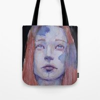 redhead Tote Bags featuring Redhead by SirScm