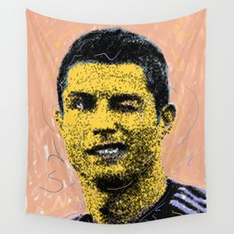 Cristiano Portrait Wall Tapestry