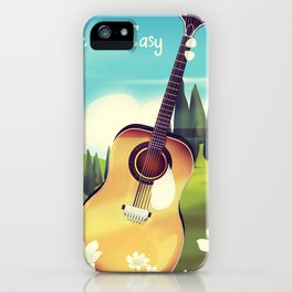 Take it Easy guitar poster. iPhone Case