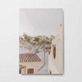 Mediterranean Coastal Village Summer Travel  Metal Print