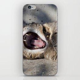 CAT - YAWNING - PHOTOGRAPHY - ANIMALS - CATS iPhone Skin