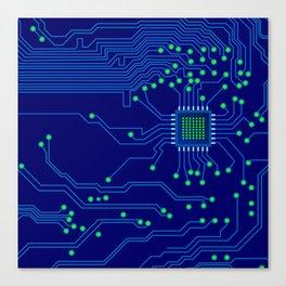 Electronics board Canvas Print