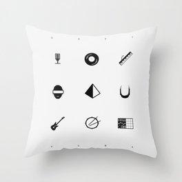 Tribute To Daft Punk, W&B. Throw Pillow