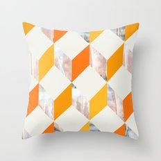ORANGE ZIG ZAG  Throw Pillow