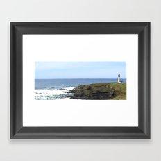Remnants of a Simpler Time - The Lighthouse Framed Art Print