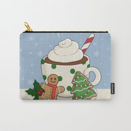 Hot Chocolate and  Gingerbread Cookies - Christmas Carry-All Pouch