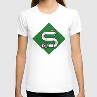 slytherin T-shirts featuring Slytherin House Crest by Manuja Waldia