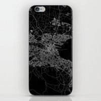 dublin iPhone & iPod Skins featuring Dublin map by Line Line Lines