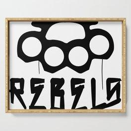 Rebels Brass Knuckles Serving Tray