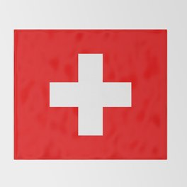 Flag of Switzerland - Authentic (High Quality Image) Throw Blanket