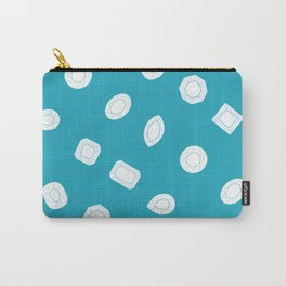 Blue Moissy Gem Pattern Carry-All Pouch