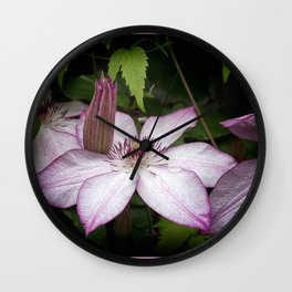 Clematis Omoshiro Wall Clock