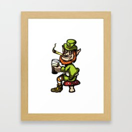 Wasted Leprechaun Framed Art Print