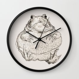 Draw Me Like One Of Your French Frogs Wall Clock