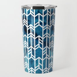 Indigo Dyed Arrows Travel Mug