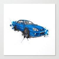 subaru Canvas Prints featuring Subaru Impreza by Claeys Jelle Automotive Artwork
