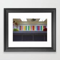red and green apples  Framed Art Print