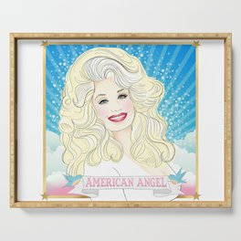 Dolly Parton American Angel Serving Tray
