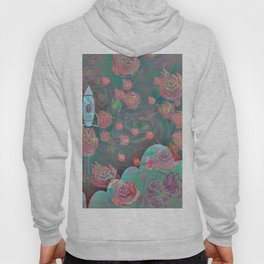 Rocket and Roses Landscape Print Hoody