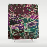 batik Shower Curtains featuring Batik Cave by Glanoramay