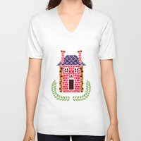 home sweet home V-neck T-shirts featuring Home Sweet Home by haidishabrina