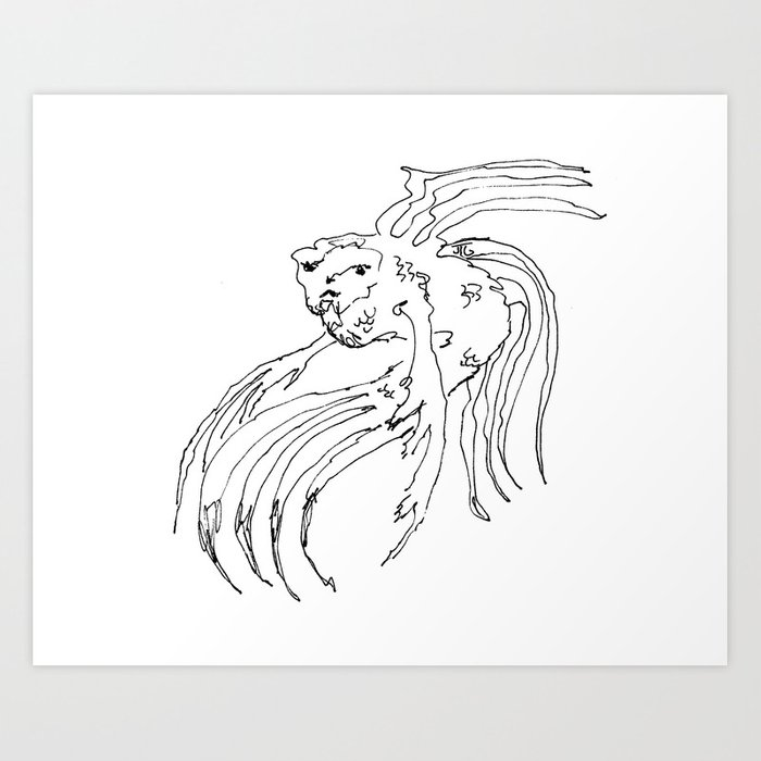 """My Fish Ares"" Art Print"