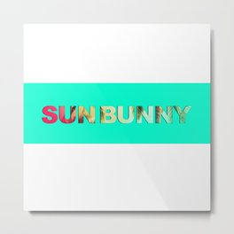 Summer Fun Sun Bunny  Metal Print
