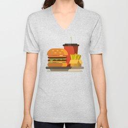 Cheeseburger Meal Unisex V-Neck
