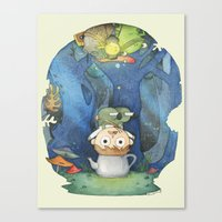 over the garden wall Canvas Prints featuring Over the Garden Wall by zaMp