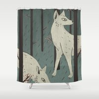 wolves Shower Curtains featuring Wolves by James White