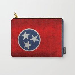 Tennessee State flag, Vintage Retro Style Carry-All Pouch