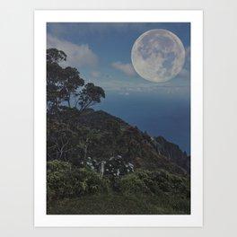 Kauai Full Moon Art Print