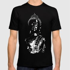 Buddha 4 Black Mens Fitted Tee LARGE
